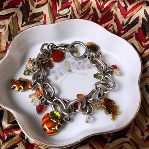 Pewter Fall Charm bracelet